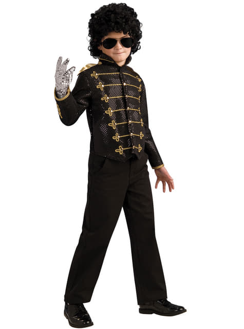 Childrens black military Michael Jackson deluxe jacket