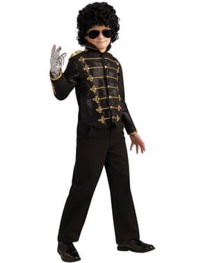 Casaco de Michael Jackson militar deluxe preto para menino