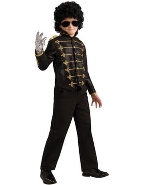 Jachetă Michael Jackson militar deluxe neagră pentru băiat