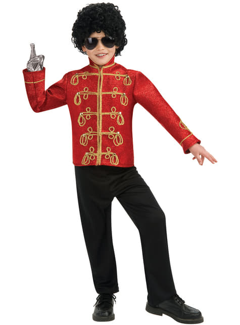 Rode jas Michael Jackson militair deluxe voor jongens