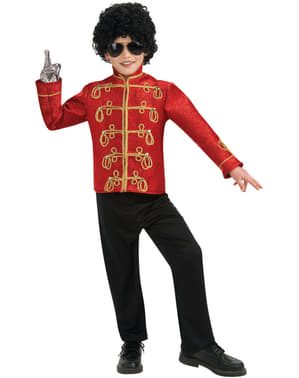 Giacca Michael Jackson militare deluxe rossa bambino