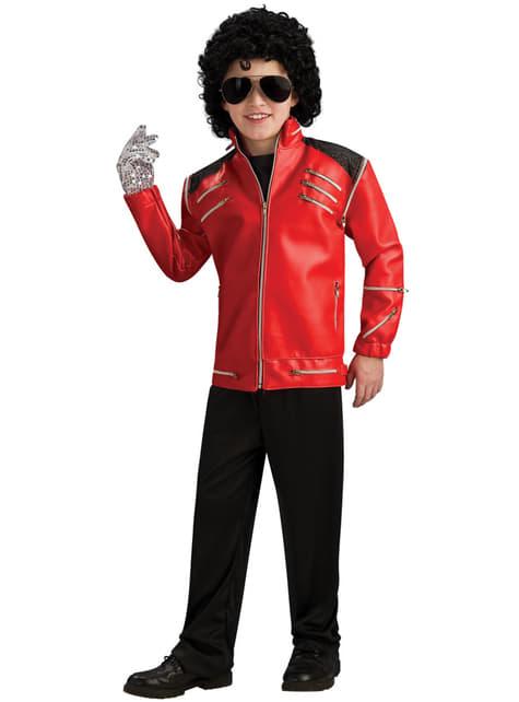 Chaqueta Beat it Michael Jackson deluxe para niño