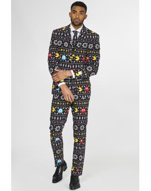 Costum barbați Pac-Man de Crăciun - Opposuits