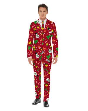 Opposuits Jul Red Kostym