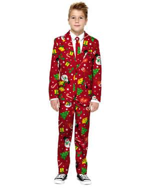 Opposuits Juledress til Gutter i Rødt
