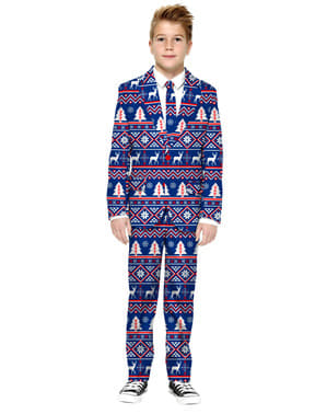 Lawan Suit Natal untuk Anak Laki-Laki dengan Warna Biru