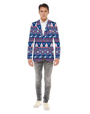Opposuits julejakke til mænd i blå