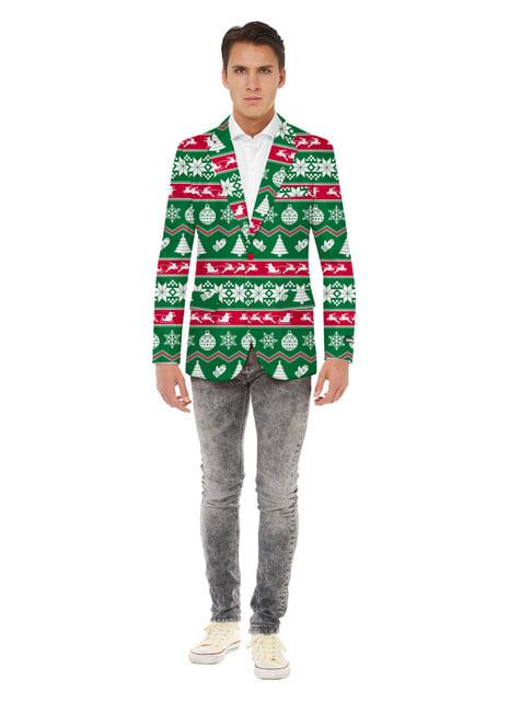 Christmas Jacket Opposuit for Men in Green