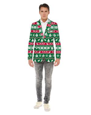 Opposuits julejakke til mænd i grøn