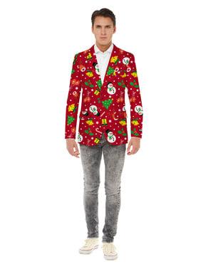 Jachetă barbați Crăciun roșie - Opposuits