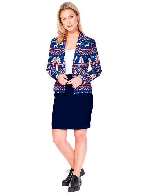 Christmas Jacket Opposuit for Women in Blue