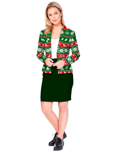 Chaqueta navideña verde Opposuits para mujer