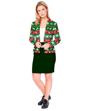 Opposuits Jul jacka dam i grönt