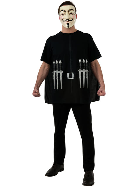 Childrens V for Vendetta costume kit