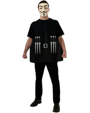 Conjunto Fato de V de Vendetta para adulto