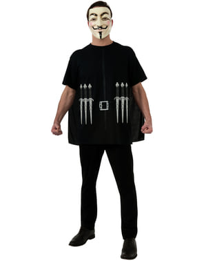 Kit disfraz de V de Vendetta para adulto