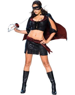 Fato de Lady Zorro para mulher