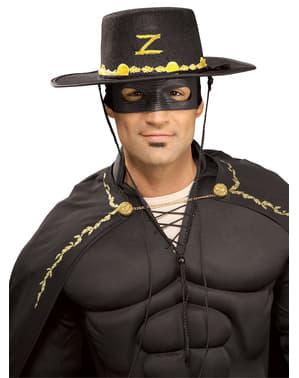 Zorro hatt och mask vuxen