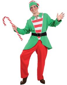 Disfraz de elfo alegre para hombre