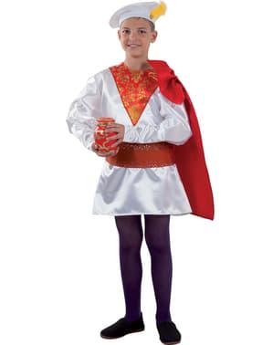 Costume da paggio reale di Melchiorre da bambino