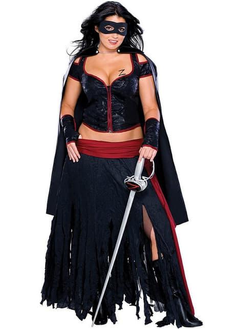 Déguisement Zorro sexy femme grande taille