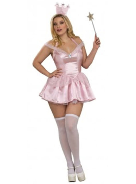 Plus Size Glinda Trollmannen fra Oz Kostyme