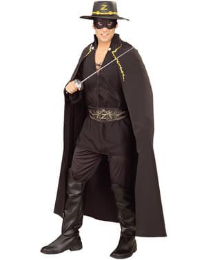 Zorro deluxe kappe til voksne