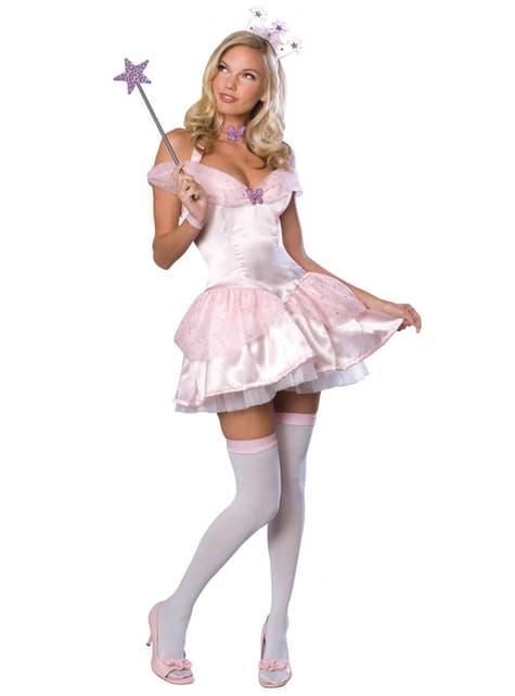 Disfraz de Glinda Mago de Oz para mujer