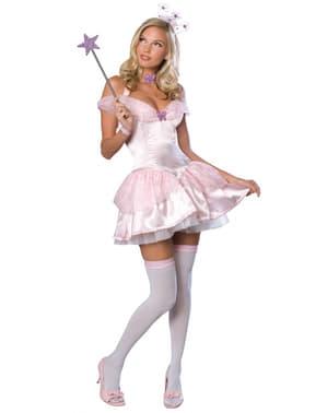 Fato de Glinda Feiticeiro de Oz para mulher