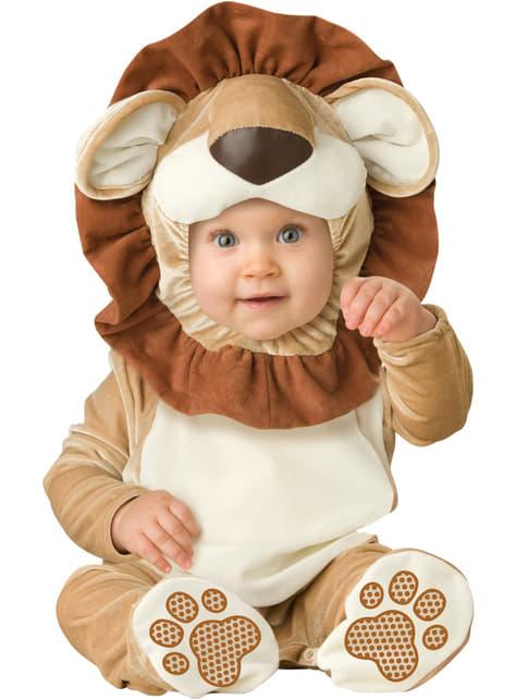 Fato de leãozinho valente para bebé