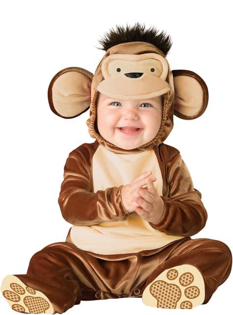 Fato de macaquinho inteligente para bebé