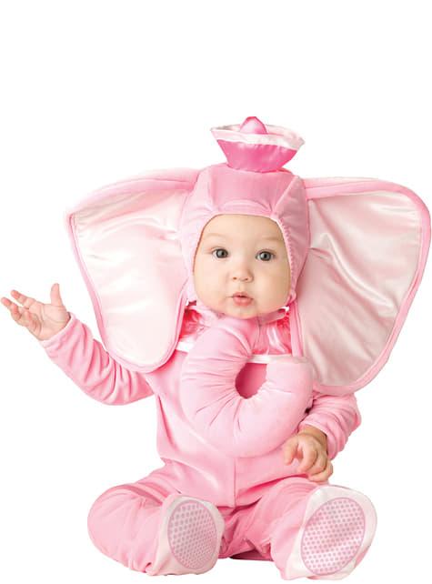 Fato de elefantezinho cor-de-rosa para bebé