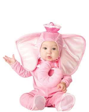 Liten Rosa Elefant Kostyme Baby