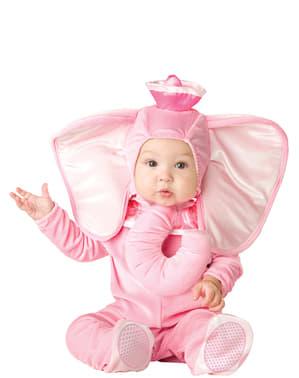 Lysrødt elefantkostume til babyer