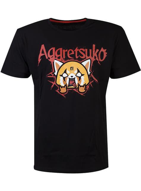Aggretsuko T-Shirt voor mannen in zwart