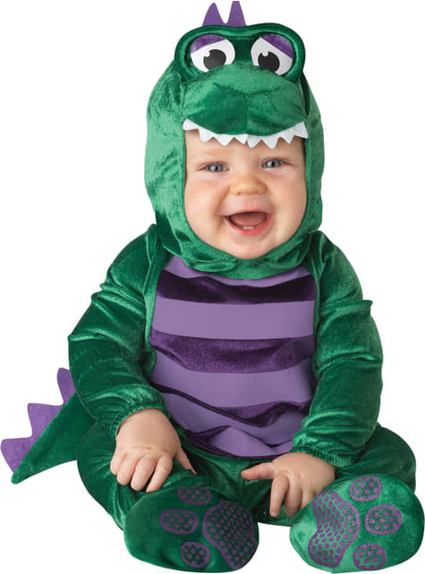 Fato de dinossauro amoroso para bebé