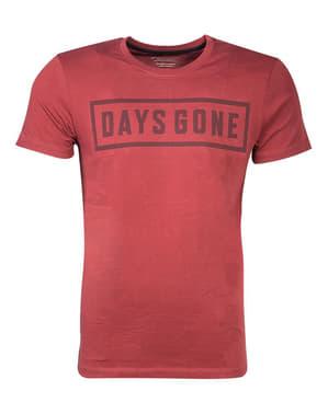 Czerwona koszulka Days Gone dla mężczyzn