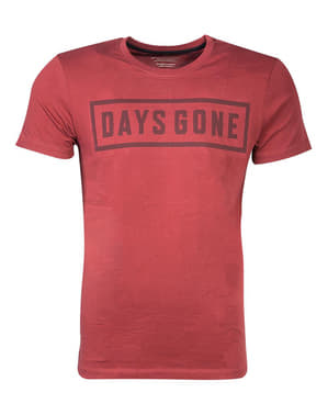 T-shirt de Days Gone vermelha para homem