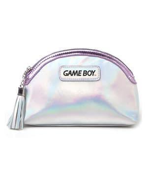 Game Boy Kulturbeutel silber für Damen
