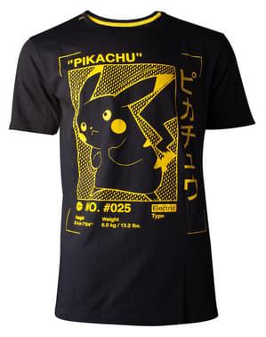 Pikachu Silhuett T-Skjorte til Menn - Pokémon