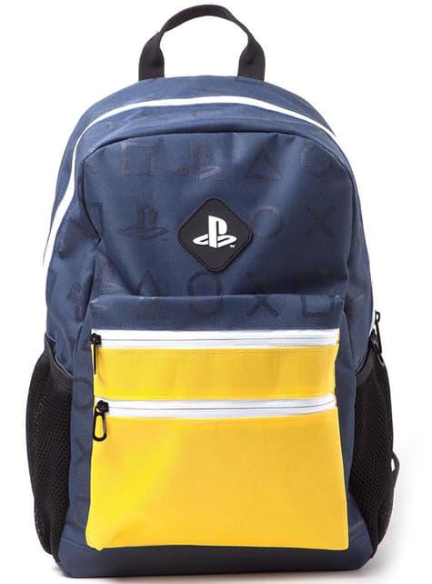 Mochila PlayStation logo amarilla