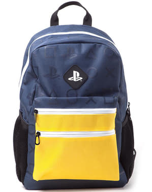 PlayStation Logo Backpack for Teens in Yellow