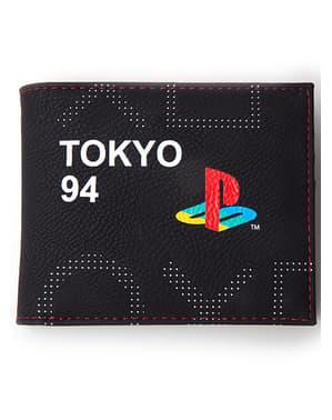 Carteira PlayStation logo clássica para homem