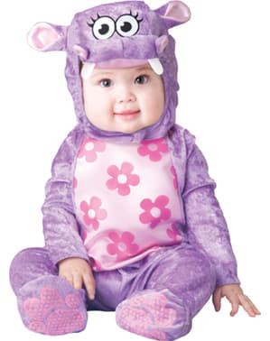 Fato de hipopótamo vaidoso para bebé