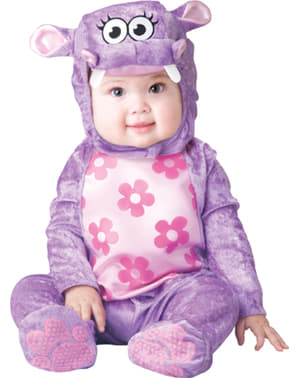 Nijlpaardje kostuum voor baby's