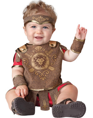 Fato de gladiador romano para bebé