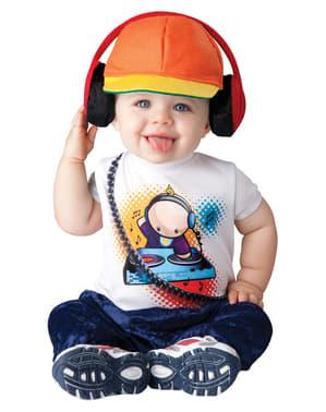 Disfraz de dj enrollado para bebé