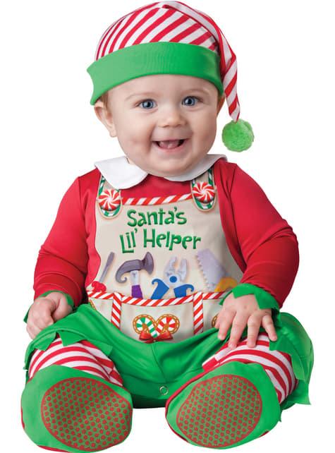 Kostium pomocnik Świętego Mikołaja dla niemowlaka