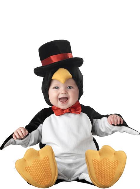 Fato de pinguim com classe para bebé