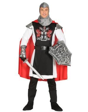 Costume da cavaliere del drago medievale per uomo